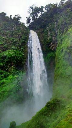 Citambur Waterfall the 7th tallest waterfall in indonesia