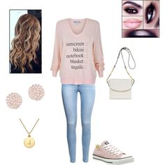 Untitled #16 by mckenzie-nemier on Polyvore featuring polyvore, fashion, style, Wildfox, H&M, Converse, Joanna Maxham, Swarovski and Kate Spade