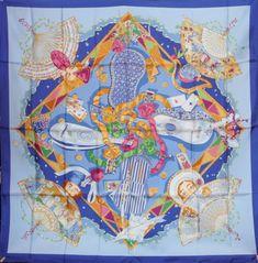 Hermès Mon ami pierrot Silk scarf squarre
