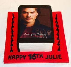 If you are hosting a Vampire Diaries party, you will find everything you need for your party planning here! This page features Vampire Diaries. Birthday Cakes For Teens, 18th Birthday Cake, Themed Birthday Cakes, Birthday Treats, Brithday Cake, Christian Grey, Candice Accola, Vampire Theme Party, Klaus From Vampire Diaries