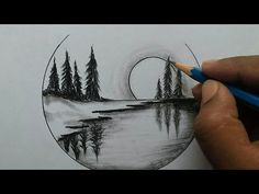 Nature scenery drawing for beginners / easy and step by step – Art World 20 Easy Nature Drawings, Easy Scenery Drawing, Landscape Drawing Easy, Pencil Drawings Of Nature, Landscape Pencil Drawings, Scenery Drawing Pencil, Easy Pencil Drawings, Beautiful Pencil Drawings, Landscape Paintings