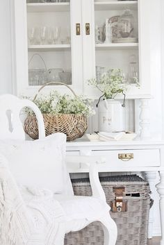 china cabinets and white furniture.....  favorites since childhood