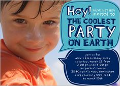 Coolest Party Blue 5x7 Stationery Card by Stacy Claire Boyd