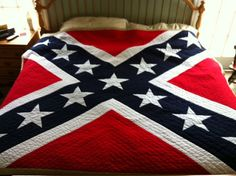 Confederate Flag KING Quilt Pattern by lindabartlett on Etsy, $25.00