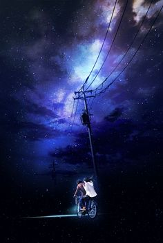 Uploaded by Find images and videos about love, art and couple on We Heart It - the app to get lost in what you love. Sky Anime, Anime Galaxy, Anime Art, Scenery Wallpaper, Galaxy Wallpaper, Fantasy Landscape, Fantasy Art, Wallpaper Animes, Sky Art