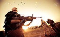 woman looking at rifle - Pesquisa Google