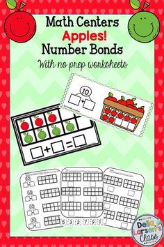 Increase your kid's ability to decompose numbers with number bonds. Increase number sense,counting, additiona dneven subtilizing. These fun filled math centers will be a back  to school favorite! Bonus Student objective page and no prep printable worksheets.