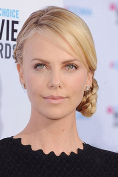 Got a hot date on the cards? Do a Charlize Theron and wow him with your elegant chignon.