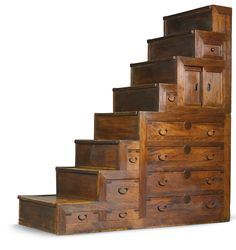 hako kaidan or Japanese Furniture, Asian Furniture, Unique Furniture, Rustic Furniture, Vintage Furniture, Furniture Design, Tiny House Furniture, Furniture Stores, Staircase Storage