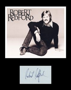 Framed Matted Hollywood Legend Robert Redford Signed Autograph and Photo