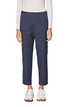 edc by Esprit Women's Trouser Trousers Women, Edc, Cool Girl, Capri Pants, Navy, Amazon, Blue, Stuff To Buy, Fashion