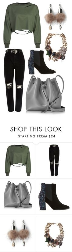 """Untitled #408"" by m-svarstad on Polyvore featuring WithChic, River Island, Lancaster, Dune, Simons and Marc Jacobs"