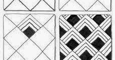 Zentangle basispatronen, stap voor stap 1