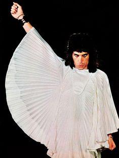 Freddie Mercury. Costume: Zandra Rhodes. Photo: Mick Rock.