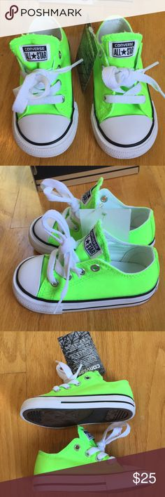 NIB converse sneakers Neon green size 6 sneakers. Brand new, never worn! I forgot I bought them for my daughter and she's outgrown them now . Converse Shoes Sneakers