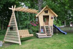 swing and kids house