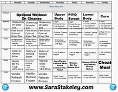 Piyo week 2 with the 3-day refresh meal plan