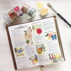 Week 45-  #midoritravelersnotebook #travelersnotebook #travelersnote #notebook #planner #plannerpages #agenda #diary #journal #bujo #bulletjournaling #journalpages #stationery #washitape