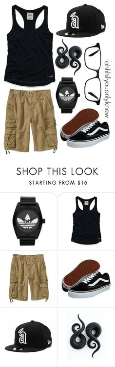 """Untitled #87"" by ohhhifyouonlyknew ❤ liked on Polyvore featuring adidas Originals, Hollister Co., Old Navy, Vans, Warby Parker, casual, my creations, my style and comfy"