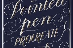 Pointed Pen Procreate Brush by The Scratchy Nib on @creativemarket