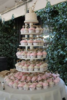 Cupcake Stand, Cupcake Tower, Wood Cupcake Stand, Round Cupcake Stand, Cake Stand, Shabby Chic Wedding, 6 Tier Stand, Your Divine Affair  PLEASE READ BEFORE ORDERING! We are now on a 3-4 week turnaround time to get orders shipped out. If you need something sooner, you can convo us, and we will see what we can do. This was a custom request from a bride. She wanted decorative posts in the middle and very large. This stand holds about 150 regular size cupcakes. The tiers are round and are 20…