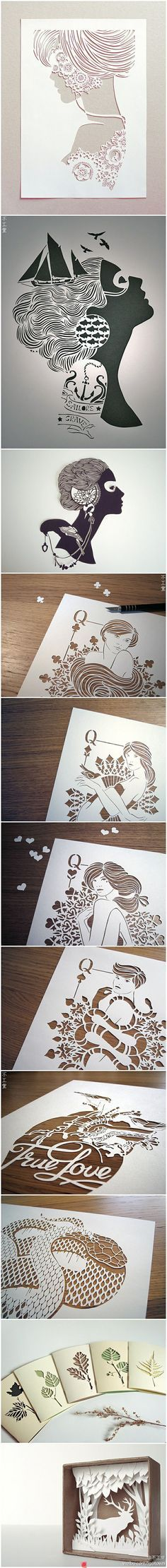 I think these are papercut by hand but they are great for lasercut inspiration