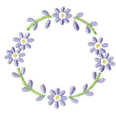 FLORAL EMBLEM embroidery design