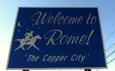 "Sign for Rome, NY ""The Copper City"" #oneidacountyny"