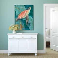 Shop for Portfolio Canvas Decor Bradley Clark 'Turtle Crop' Canvas Stretched and Wrapped Wall Art. Free Shipping on orders over $45 at Overstock.com - Your Online Art Gallery Store! Get 5% in rewards with Club O! - 19217049