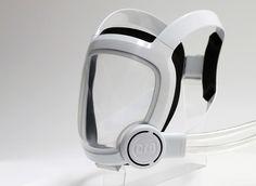 Futuristic diving mask, perhaps?