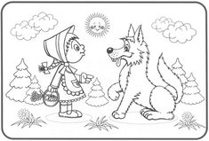 Coloring Books, Coloring Pages, Story Cubes, Little Red, Nursery Rhymes, Kids Toys, Fairy Tales, Moose Art, Preschool
