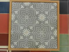 Handmade encaustic tiles, 15x15 cm format. 1556 Sun.  Brochure available.