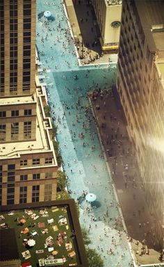 city streets as swimming pool