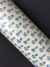 Vintage Double Roll Warner Little Prints Charming Wallpaper Blue White Flowers