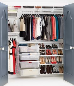 White elfa Reach-In Clothes Closet | SALE $561.02