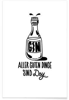 Gin als Premium Poster von Yeye Weller | JUNIQE