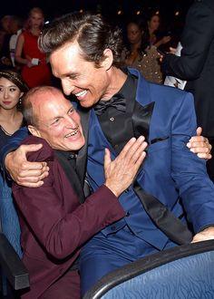 Woody Harrelson, Matthew McConaughey, Emmy, Candid