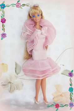 Perfume Pretty Barbie- She was one of my favorites. You could push her skirt down to make it a long skirt or a short skirt. Also pink... can never go wrong with pink. :)