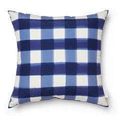 deep sea buffalo check pillow indoor/outdoor