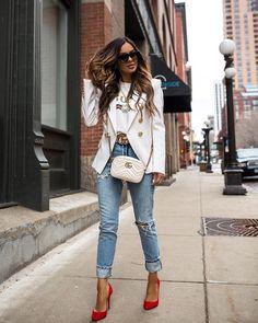 street style for spring Look Fashion, Diy Fashion, Spring Fashion, Ideias Fashion, Fashion Outfits, Womens Fashion, Fashion Trends, Gucci Outfits, Luxury Fashion