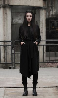 Unversed | all black, silhouette, hair