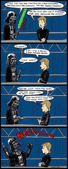 Star Wars Humor .. Darth Vader and Luke Skywalker