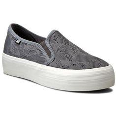 Tenisówki HEAVY DUTY - Basset Grey Vans Classic Slip On, Grey, Sneakers, Shoes, Fashion, Ash, Tennis Sneakers, Gray, Sneaker
