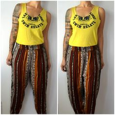 Vintage Tribal African Print Loose Pants