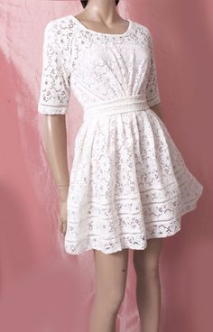cotton lace/  bridesmaid /cocktail /party/ romantic dress by UpToDateFashion on Etsy https://www.etsy.com/listing/194502636/cotton-lace-bridesmaid-cocktail-party