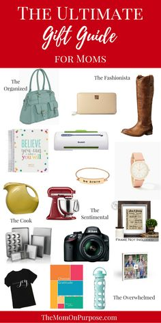 Are you looking for some gift ideas for the moms on your Christmas list? The Ultimate Gift Guide for Moms will give you ideas for all of the different moms you are shopping for!
