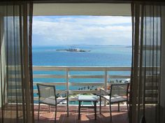Hotel El Conquistador, Puerto Rico. Exact view that me and my honey woke up to!