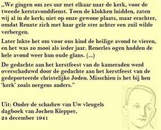 Quote. Laatste kerst. Citaat uit dagboek Jochen Klepper.