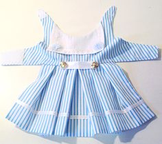 Sailor dog dress This sailor dog dress is made from cotton and is made in four different colour stripes, red, navy, pink or blue, very pretty little dress. I stock six sizes in this dress but will always make to your measurements if they are different from my stock sizes. The dress doesnt have a net petticoat but I can put one In it if you wanted just message me at preciouspup@live.com Or go to my website preciouspup.co.uk I can add a DRing and side release clips if needed. Price for this is…