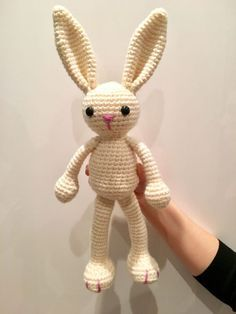 Jean Lapin – La Fée Crochette, #crochet, free pattern (English, French), amigurumi, bunny, stuffed toy, #haken, gratis patroon (Engels), konijn, knuffel, speelgoed, kraamcadeau, #haakpatroon
